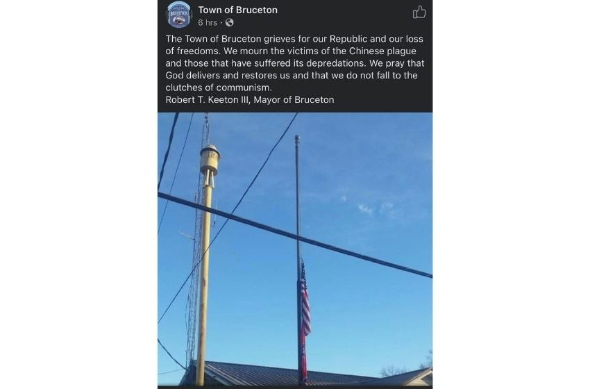 Bruceton mayor makes controversial post on town's Facebook page