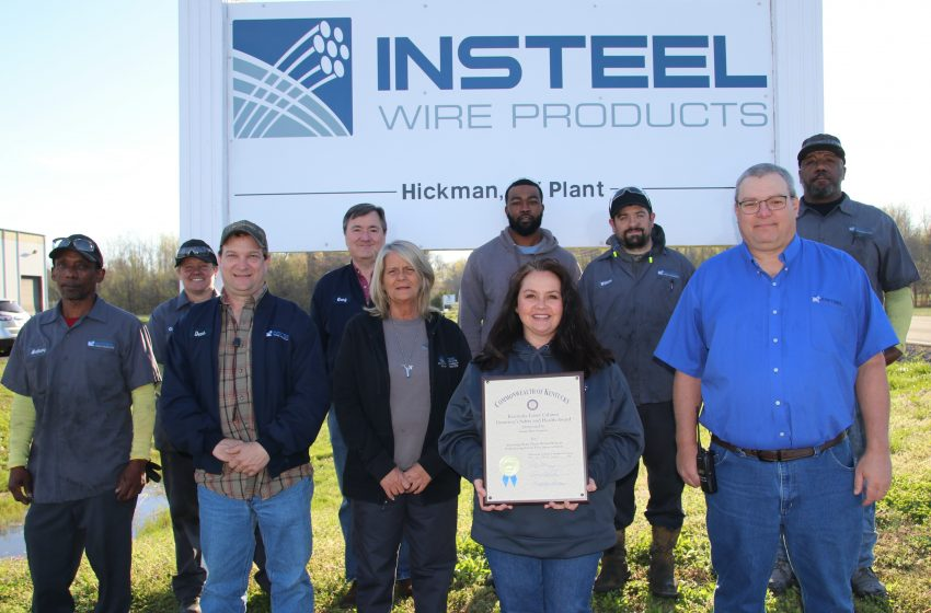 Hickman Manufacturing Plant Recognized for Hours Without Work Injury