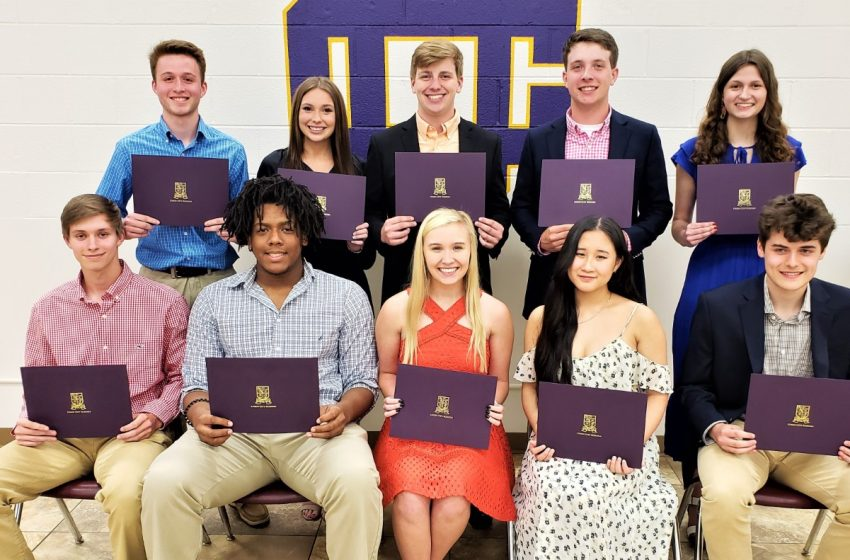 """Union City High School Honors """"Top-10 Students"""""""