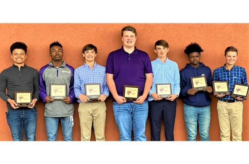 Several UCMS boys' basketball players honored at postseason banquet