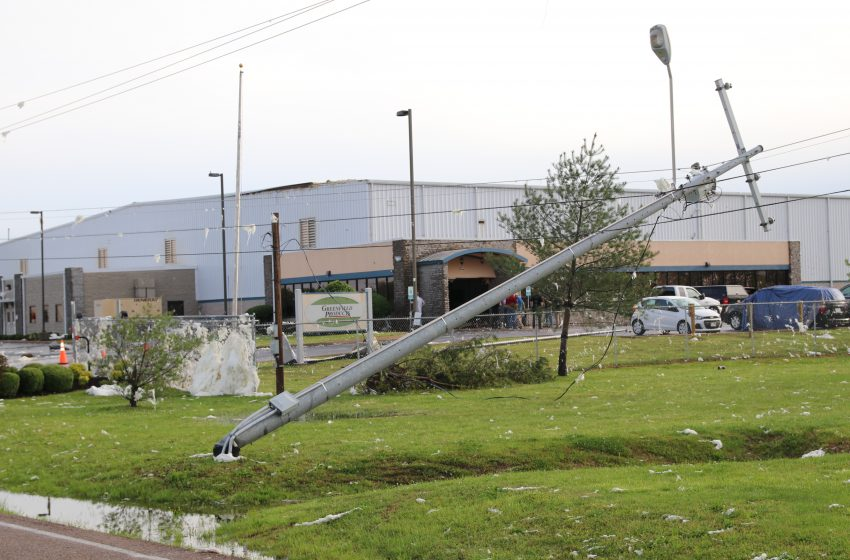 Storm Damage at the Industrial Park in Union City