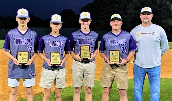 Four Union City Middle School Baseball Players Recognized