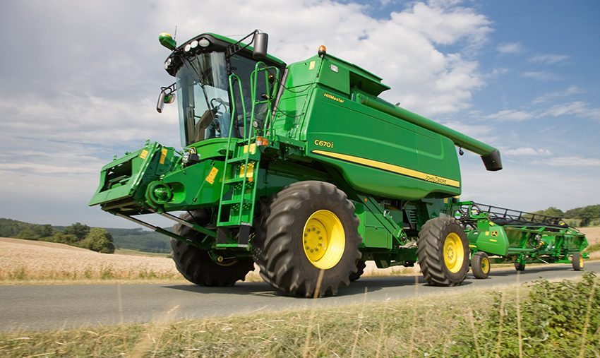 Farmers Now Moving Large Equipment Due to Harvest