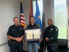 Former Jackson Police Officer Honored for Saving Life