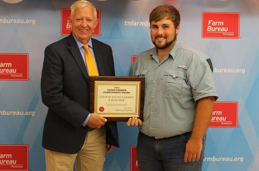 Tanner Nichols Named Obion County Young Farmer Award Winner